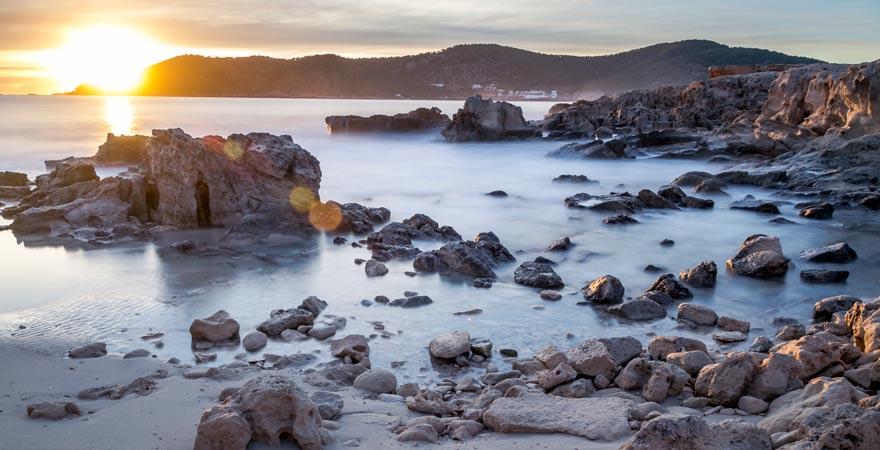 Küste von Ses Salines auf Ibiza