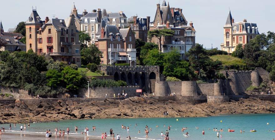 Strand von Dinard, Frankreich