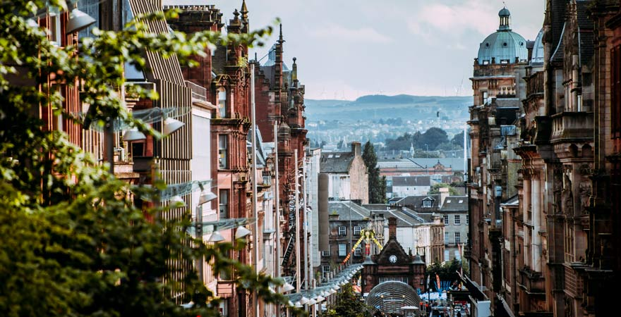 Die Buchanan Street in Glasgow, Schottland