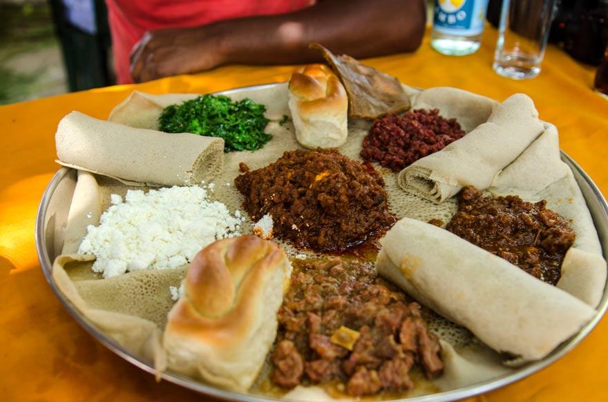Typisches Essen in Äthiopien