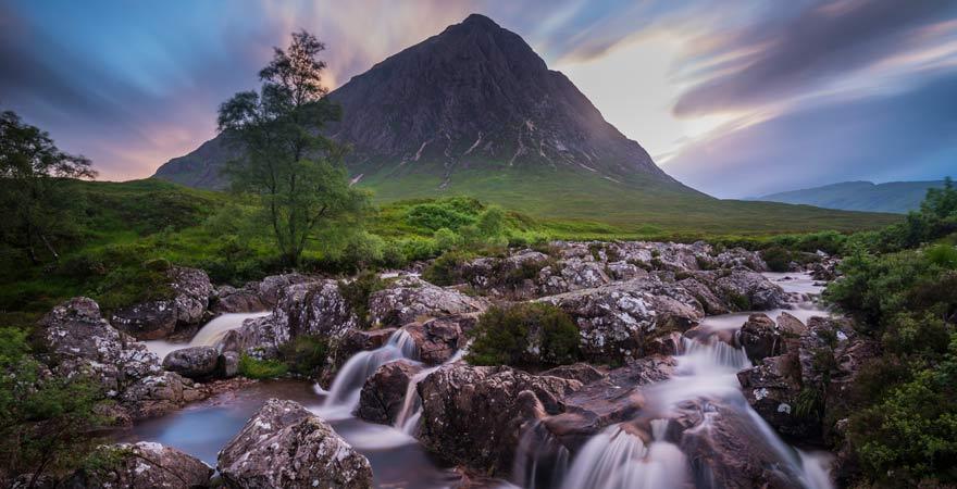Ein Munro in Glencoe in Schottland