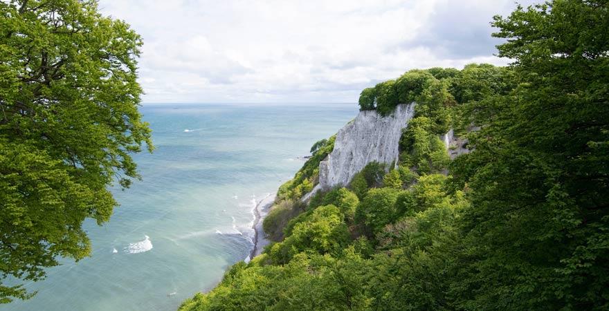 Der Kreidefelsen Königsstuhl im Nationalpark Jasmund auf Rügen