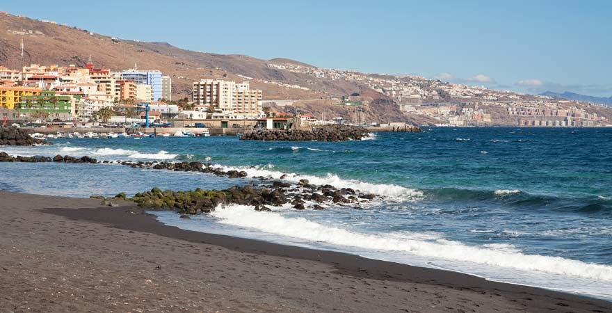 Der Playa de Punta Larga bei Candelaria auf Teneriffa