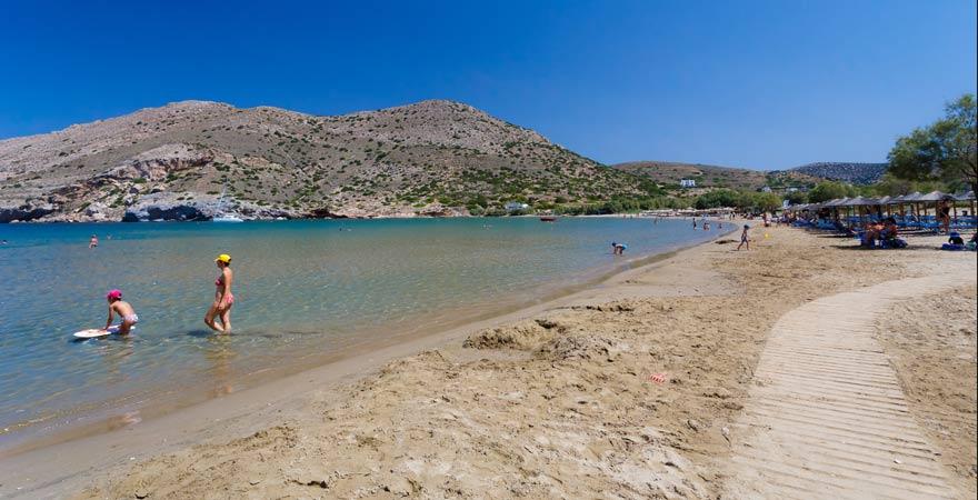 Strand von Galissas auf Syros