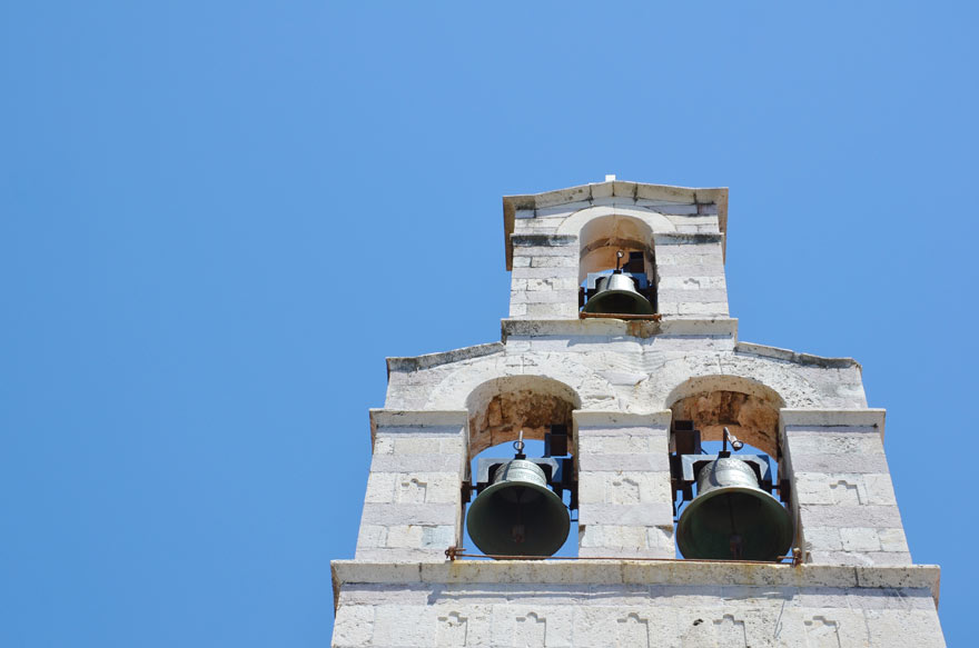 Kirchturm in Budva, Montenegro