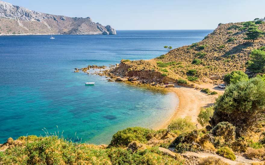 Strand von Kokkina auf Syros