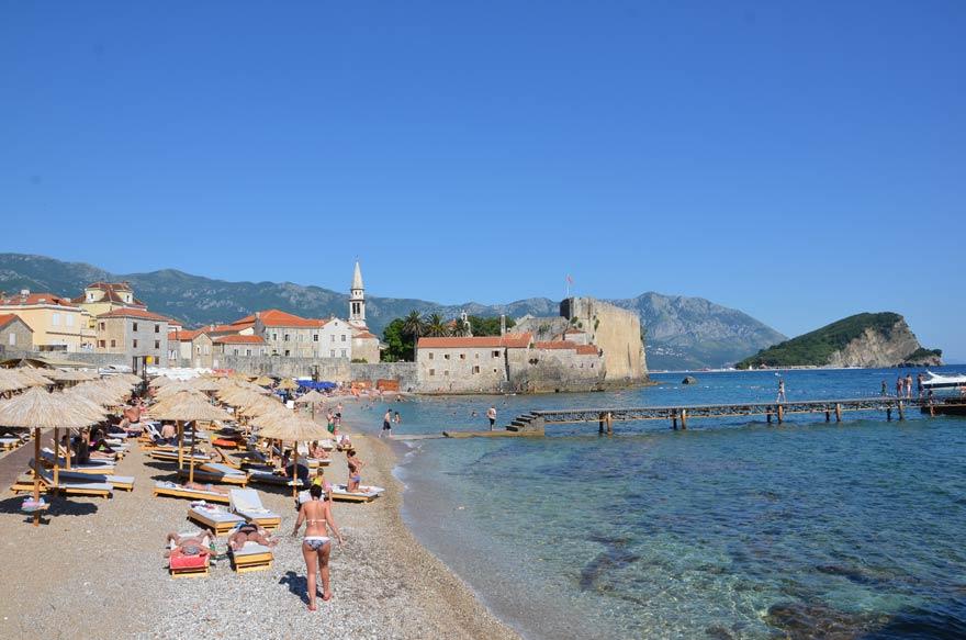 Strand in Budva in Montenegro
