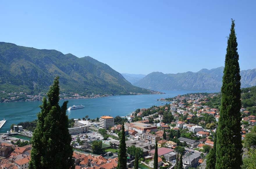 Die Bucht von Kotor in Montenegro