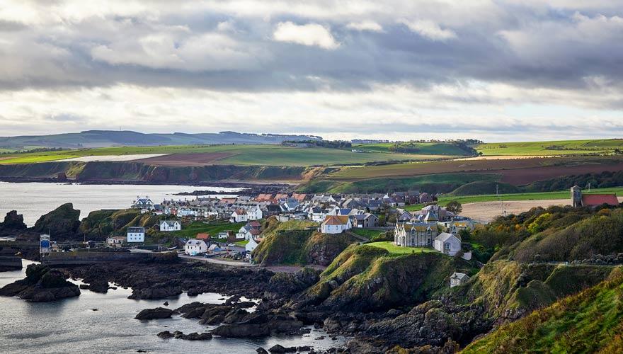 Berwickshire ist herrlich auf eurer Wanderroute durch Schottland gelegen
