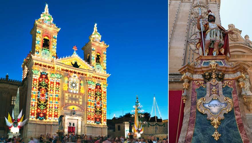 Festas auf Malta sind immer bunt