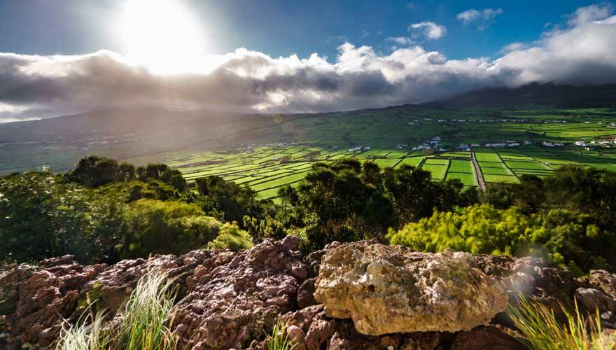 Das Landesinnere der Azoren-Insel Terceira