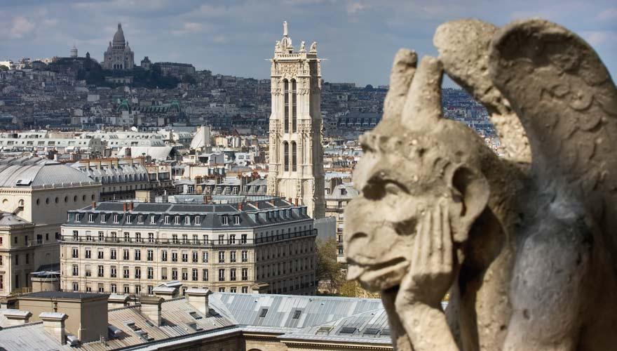 Die Via Turonensis startet am Tour Saint-Jacques in Paris