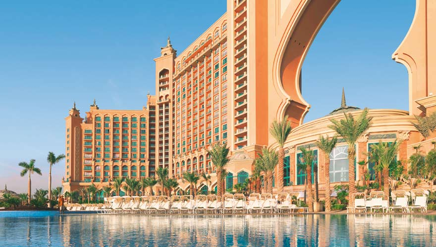 Das Hotel Atlantis The Palm in Dubai ist eine Sehenswürdigkeit