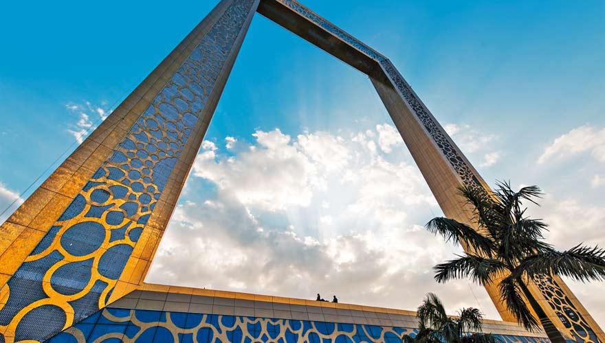 Das Dubai Frame ist eine neue Sehenswürdigkeit in der Metropole