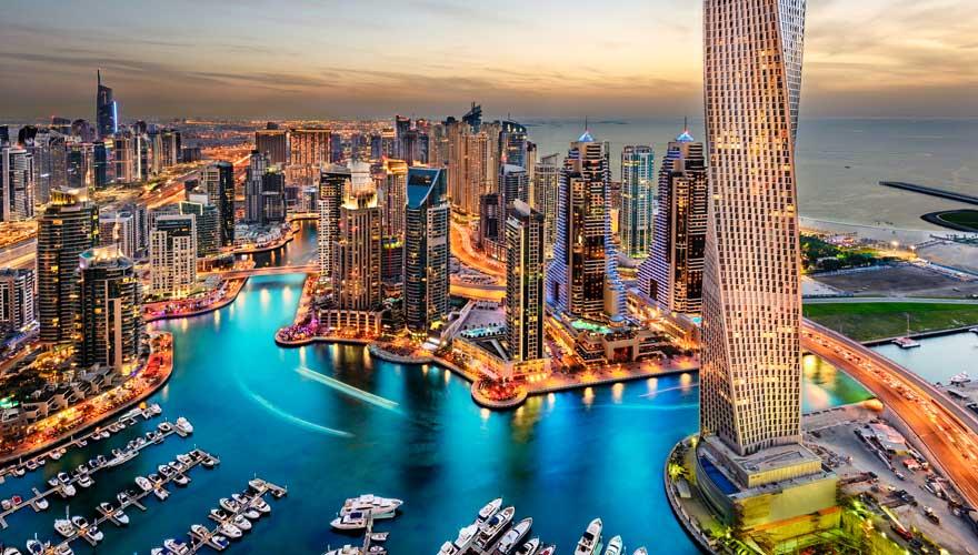 Eine Sehenswürdigkeit aus der Zukunft: die Dubai Marina