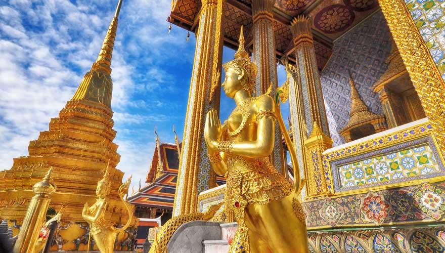 Der Königspalast in Bangkok zählt zu den Hauptattraktionen