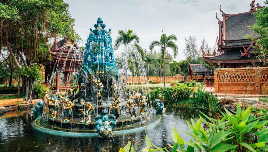 Das Ancient Siam City Mueang Boran ist eine der Top-Sehenswürdigkeiten außerhalb von Bangkok