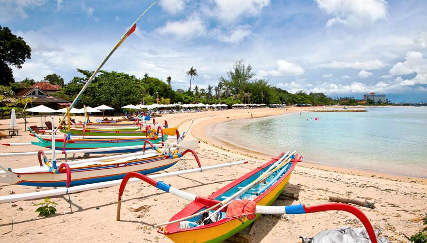 Der Sanur Beach ist ein toller Strand auf Bali für Familien