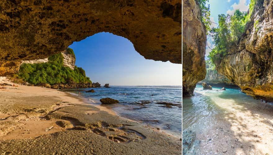 Ein toller Spot zum Surfen is der Strand von Suluban auf Bali