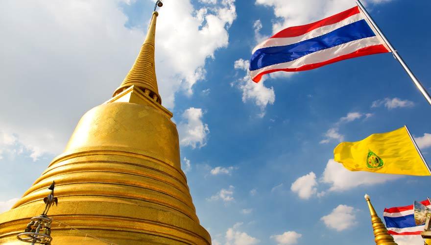 """Der """"Golden Mount"""" Wat Saket ist eine prächtige Sehenswürdigkeit in Bangkok"""