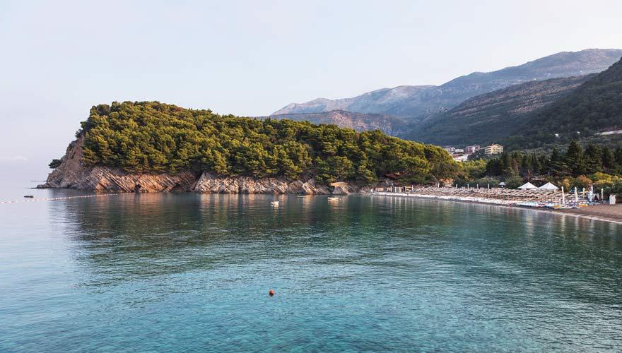 Der Strand von Budva