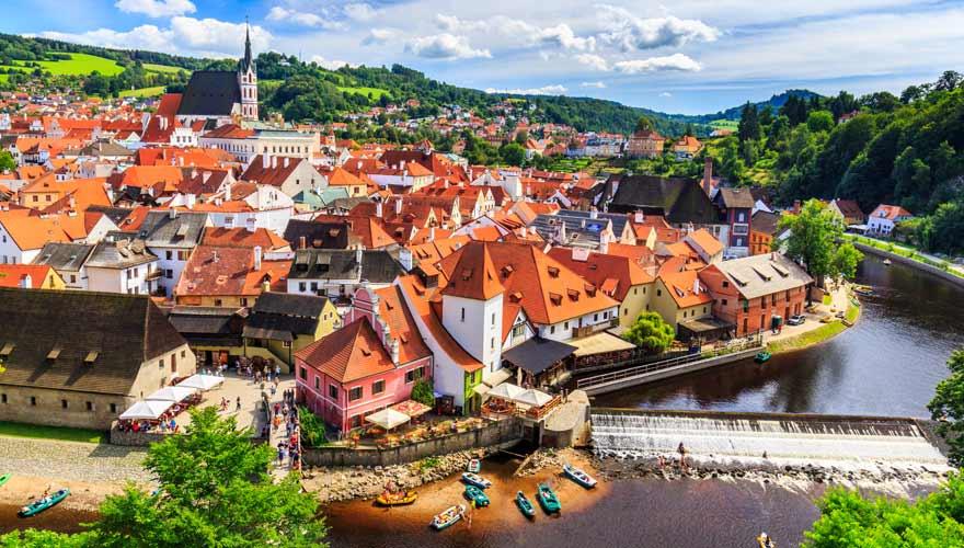 Herrlich pittoresk: die tschechische Stadt Cesky Krumlov