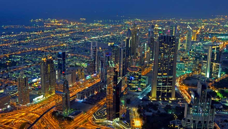 Panorama auf Dubai
