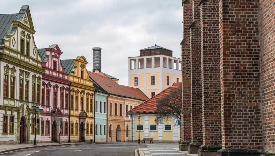 Zentrum der tschechischen Stadt Hradec Kralove