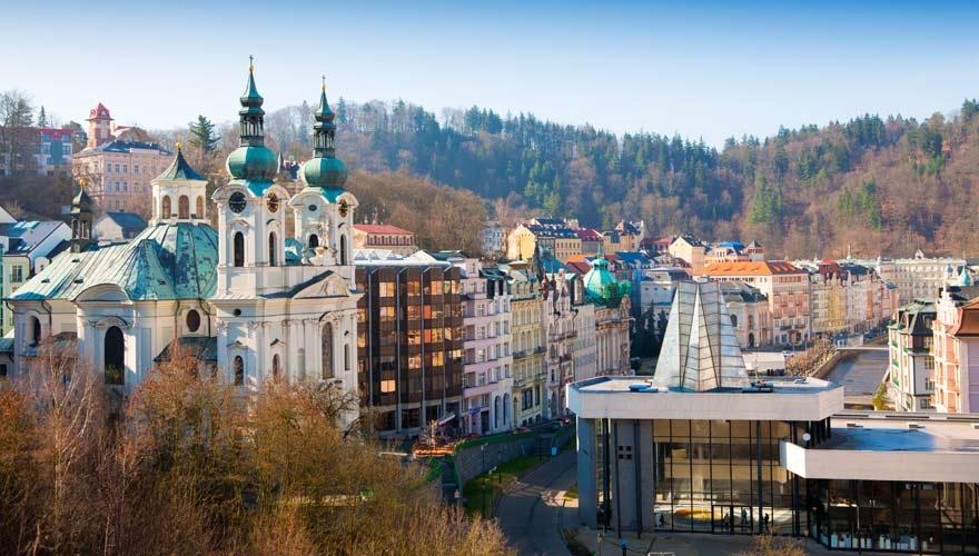 Eine der 7 schönsten tschechischen Städte ist Karlovy Vary
