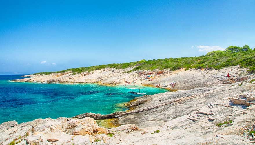 Die Strände auf der Insel Proizd zählen zu den schönsten in Kroatien