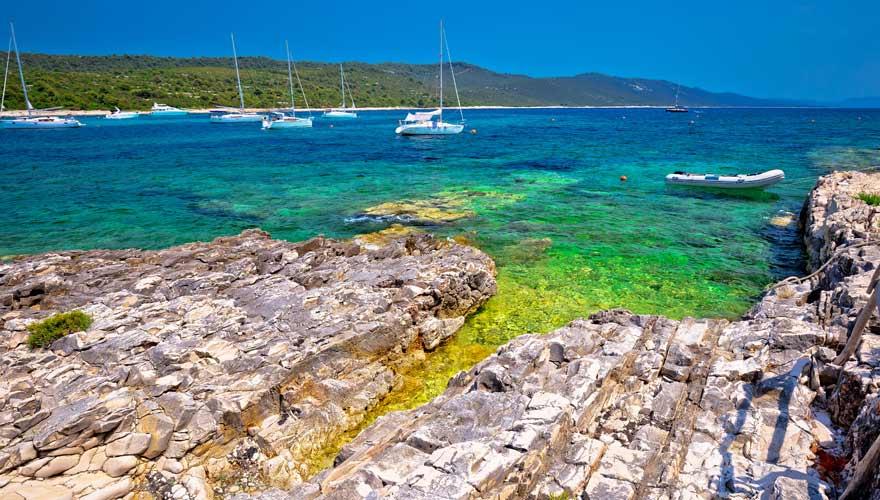 Sakarun ist ein sehr vielseitiger Strand in Kroatien