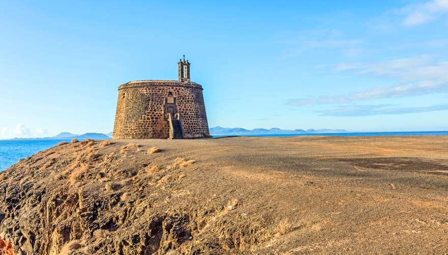 Castillo de las Coloradas in Playa Blanca