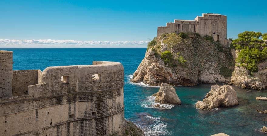 Die Festunf Lovrijenac ist eine wichtige Sehenswürdigkeit in Dubrovnik