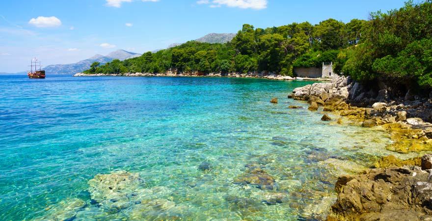 Die Insel Kolocep ist eine beliebte Sehenswürdigkeit bei Dubrovnik