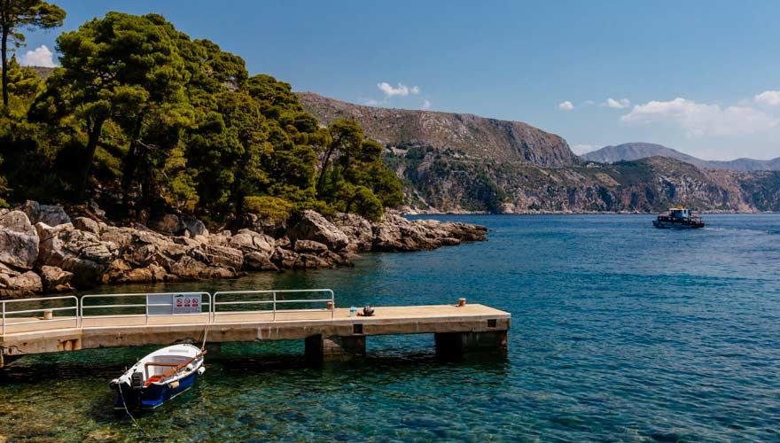 Strand von Lokrum, einer kleinen Insel vor Dubrovnik
