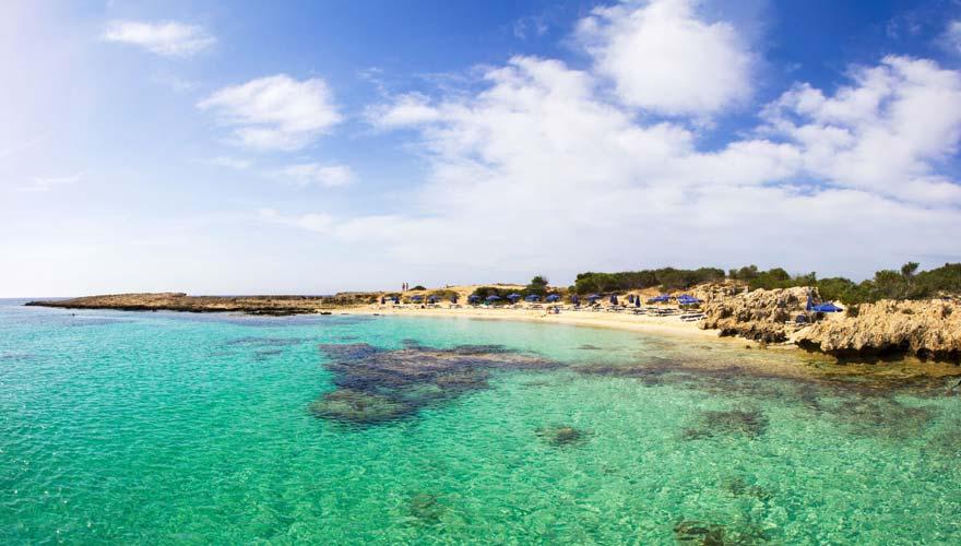 Makronissos Strand auf Zypern