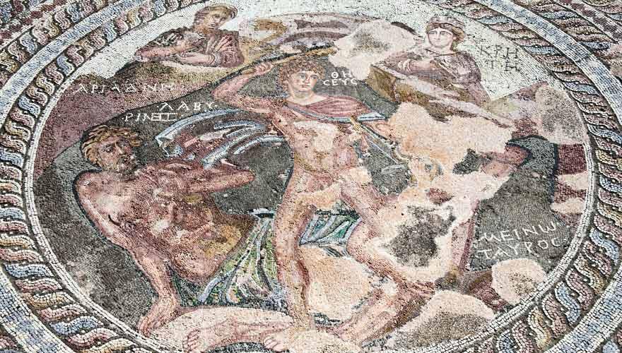 Bodenmosaik in Paphos, Zypern