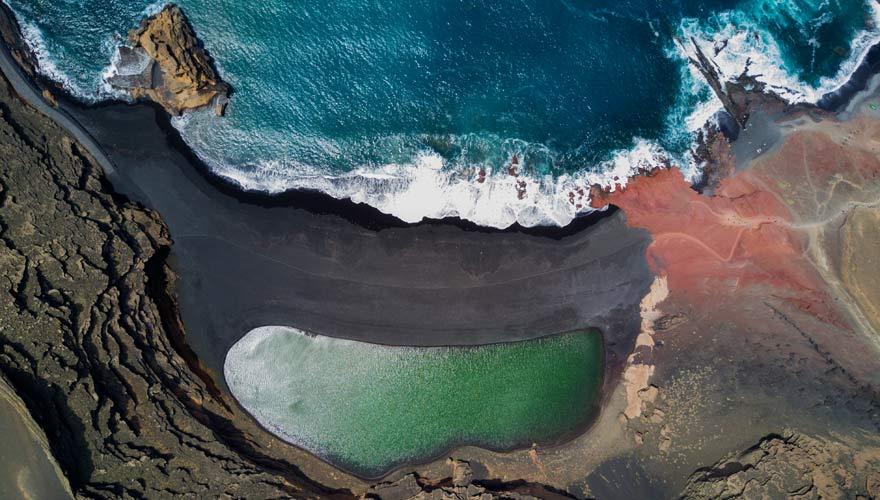 Playa El Golfo - ein spektakulärer Strand auf Lanzarote