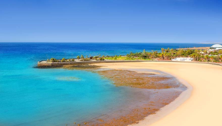 Der Strand Playa Reducto auf Lanzarote
