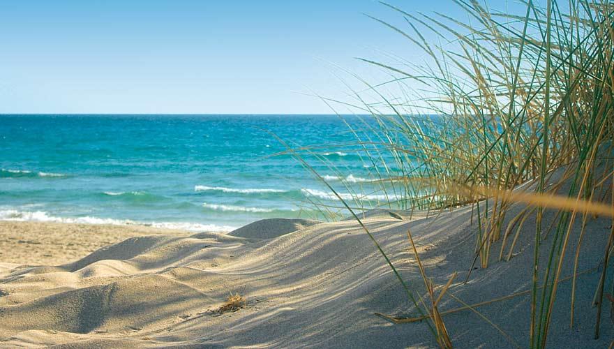 Dünen vom Strand Porto Pino auf Sardinien