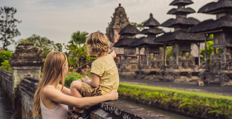 Die Tempelanlage Pura Taman Ayun auf Bali ist sehr sehenswert