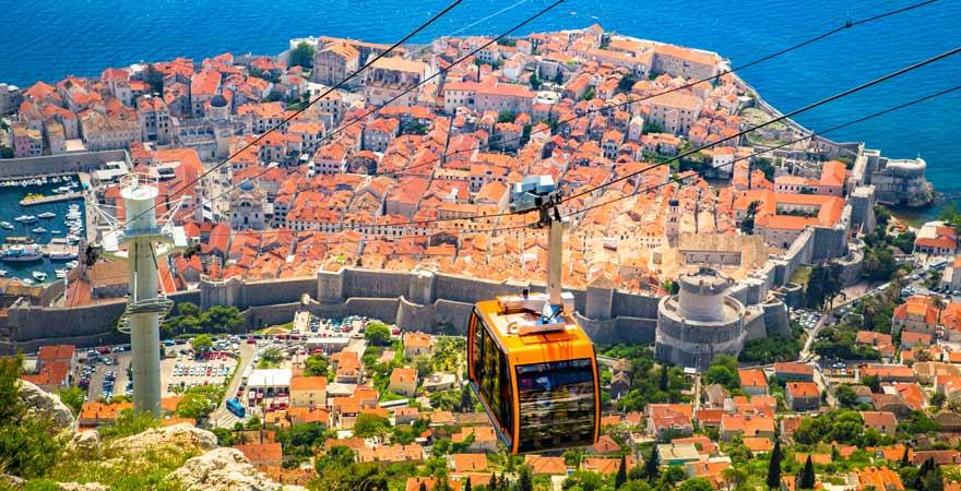 Die Seilbahn auf den Srd ist eine tolle Sehenswürdigkeit in Dubrovnik