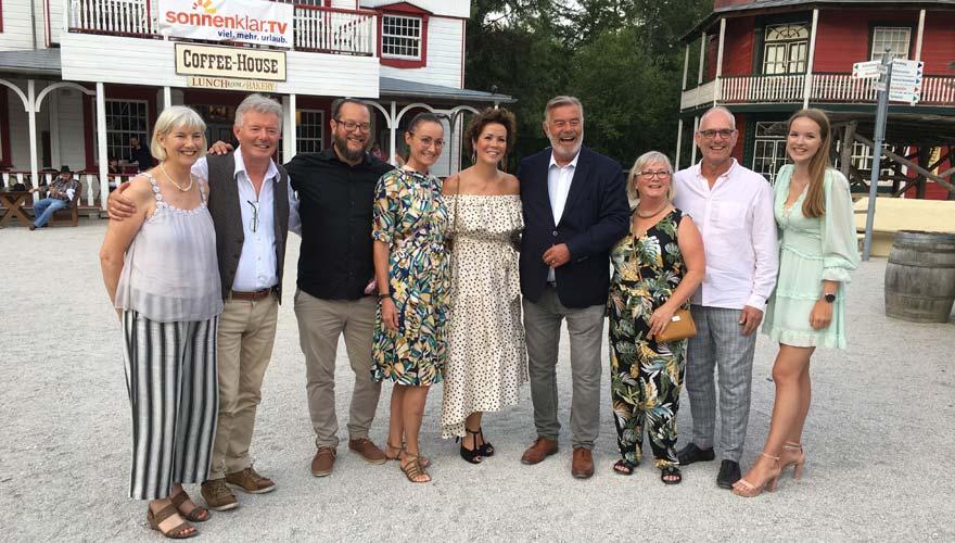 sonnenklar.TV Sommerparty, Harry Wijnvoord mit Familie