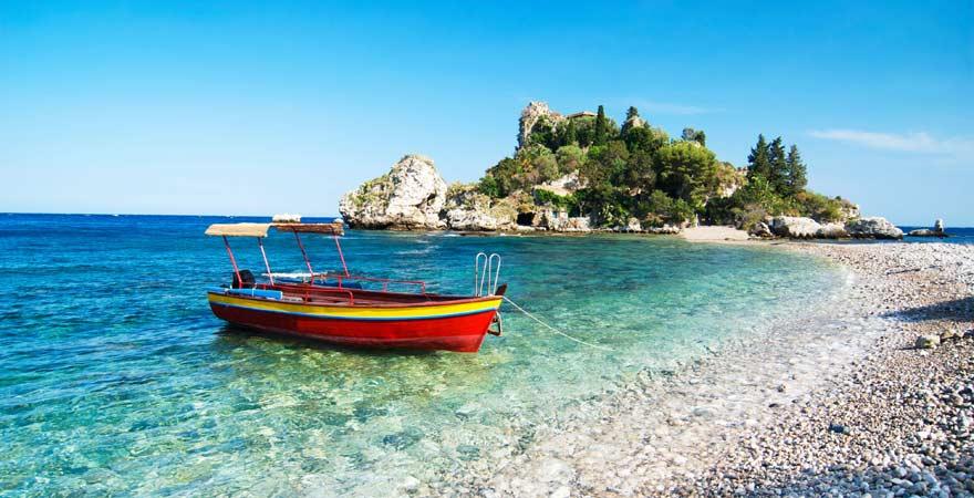 Isola Bella ist eine tolle Sehenswürdigkeit auf Sizilien