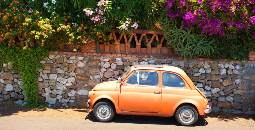 Fiat in Taormina, Sizilien