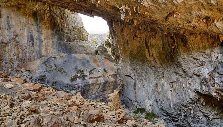 Archäologische Stätte von Tiscali auf Sardinien