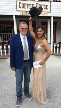 Moderatoren Ulli Potofski und Stephanie Frohmann auf der sonnenklar.TV Sommerparty