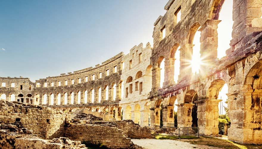 Das Amphitheater in Pula, Kroatien