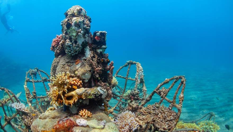 Unterwassertempel von Pemuteran auf Bali