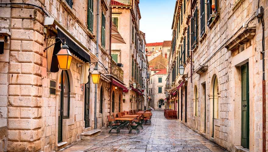 Gasse in Dubrovnik, Kroatien